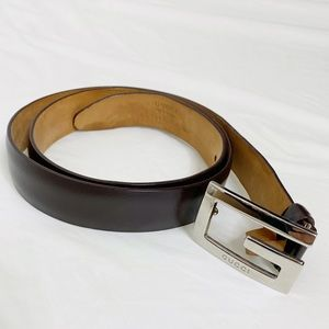 Vintage Gucci Buckle Brown Leather Belt RARE!!!